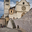 Basilica di San Francesco, Assisi, Umbria, Italy - Stock Photo