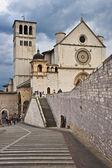 Basílica di san francesco, assis, úmbria, itália — Fotografia Stock