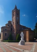 The Monte Oliveto Maggiore abbey, Tuscany, Italy — Stock Photo