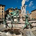 Fountain of Neptune, Piazza della Signoria, Florence, Tuscany, Italy — Stock Photo