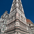 Giotto's bell tower of the Florence Cathedral — Stock Photo