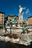 Fountain of Neptune, Piazza della Signoria, Florence, Tuscany, Italy — Stock Photo