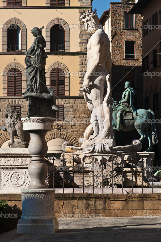 Fountain of Neptune, Piazza della Signoria, Florence, Tuscany, Italy — Stock Photo #4064969
