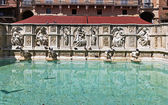 Fonte Gaia (Fountain of Joy), Siena — Foto Stock