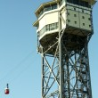 San Sebastian Tower. Funicular of Barcelona, - Stock Photo