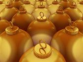 Golden Spheres — Stock Photo