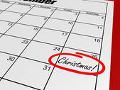 Calendar christmas day — Stock Photo