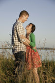 Young mixed race couple — Stock Photo