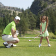 Family Golf - Stock Photo