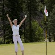 A Woman's Day at the Golf Coursed — Stock Photo