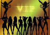 Sexy dancer vip girl — Stock Photo