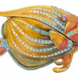 Metal yellow small fish — Zdjęcie stockowe #4268512