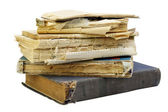 The old shabby books — Stock Photo
