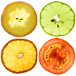 Translucent slices of an fruits - Foto Stock