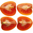 Four quarters of one tomato — Stock Photo