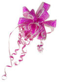 Paper pink rose - a bow for a gift — Stock Photo