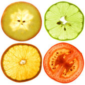 Translucent slices of an fruits — Stock Photo