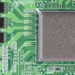 Modern printed-circuit board macro background — Stock Photo #4907853