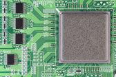 Moderne gedruckt platine makro background — Stockfoto