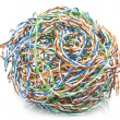Stock Photo: Big ball from cable twisted pair