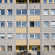 Windows of a multiroom apartment house — Stock Photo
