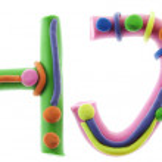Real cheerful plasticine alphabet — Stock Photo #5346075