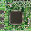 Modern printed-circuit board macro background — Stock Photo #5346233