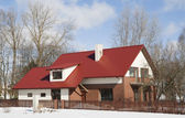 Modern European mass rural building — Stock Photo