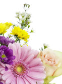 Flowers for the beloved postcard — Stock Photo