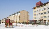 Moderno edificio masa rural europeo — Foto de Stock