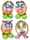 Cool toy Easter eggs set — Stock Photo