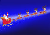 Santa sleigh — Stock Photo