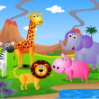Cartoon safari animal - Stockvektor