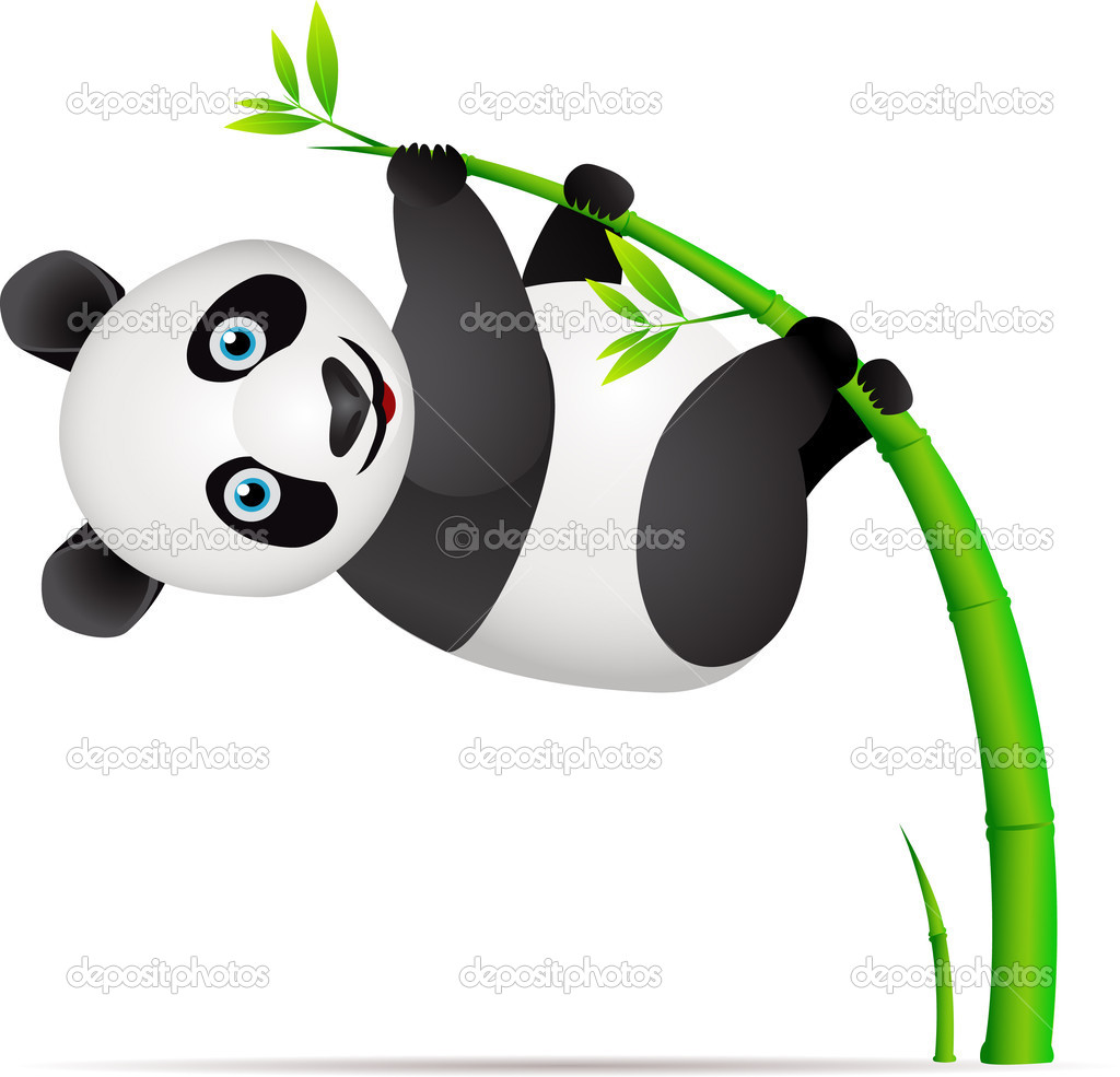Cute panda cartoon — Stock Vector #5078462