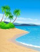 Beautiful tropical background — Stock Vector