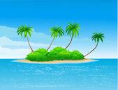 Beautiful tropical island — Stock Vector