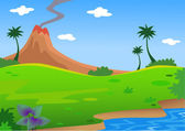 Landscape nature — Vector de stock