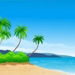 Beautiful tropical beach — Stock Vector #5202421