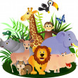 Vector Animal cartoon - Stockvektor