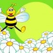 Bee cartoon - Stock Vector