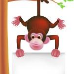 Cute chimpanzee — Stock Vector #5293270