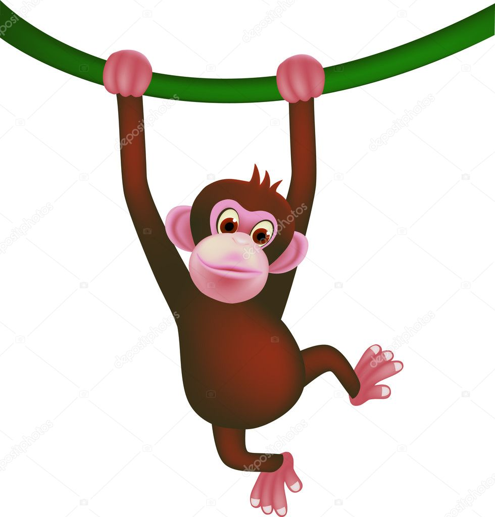 Cute ape vector — Stock Vector #5293247