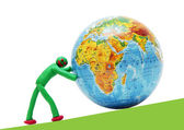 Rescue of a perishing planet by the person — Stock Photo