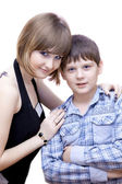 Sister with the brother in good mood — Stock Photo