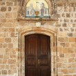 Entrance of the church — Stock Photo