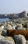 Bastille i hamn — Stockfoto