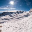 Stock Photo: Winter landscape in Zugspitze, Germany