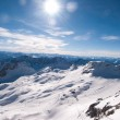 Winterlandscape in the Zugspitze, Bavary, Germany - Stock Photo