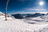 Winterlandscape in the Zugspitze, Germany — Stock fotografie