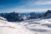 Winterlandscape in the Zugspitze, Germany — Stok fotoğraf